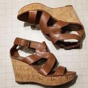 Nine West Cork Wedge VEGAN sandals size 6.5